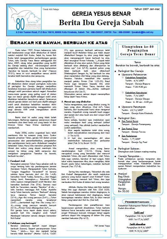 Surat Berita IGYB Sabah Isu.Jan-Mac 2007